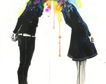 lora zombie  • big bang art print • COLLECTION • fine lithograph large size