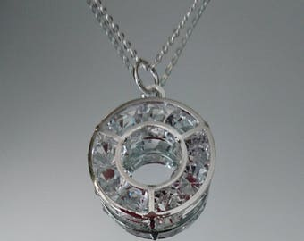 Crystal pendant twin necklace