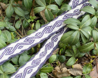 Plant dyed tablet weaving belt - 166cm