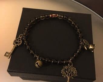 Smoky Quartz Charm Bracelet