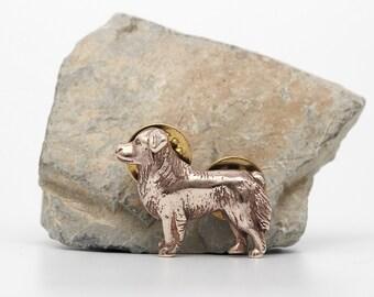 Vakkancs Australian Sheperd (Aussie) pin (solid bronze)