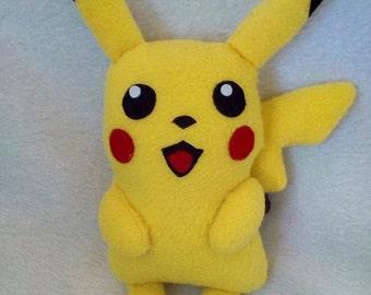 Soft toy Pikachu Pokemon handmade fleece