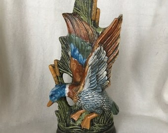 Italian hand-painted vase with duck, now 20% discount!
