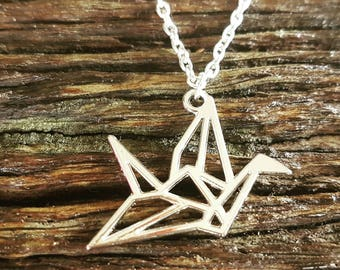 Origami Paper Crane Necklace  - FREE WORLDWIDE SHIPPING