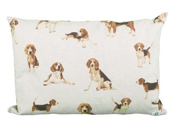 Pillow rectangle Beagle dogs