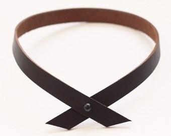 KOLLAR // Espresso + Black Stud Choker Necklace