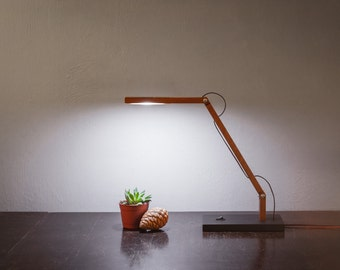 LED wooden articulated lamp