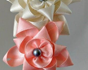 Handmade Satin Ribbon Flower Headband