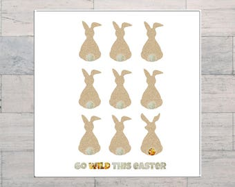 Happy Easter, Easter Card, Easter Bunny, Rabbits, Whimsical, Whimsy, Printable, Instant Download, Digital Download, Digital Art, Multi Sizes