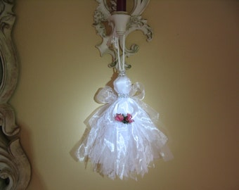 Angel Tassel Home Decor Wedding Decoration Shabby Chic Ornament Lace Angel Accent Collection # 04