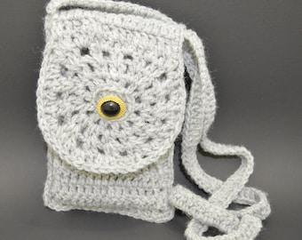 Handmade crochet phone holder, cell phone pouch, small purse