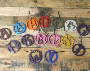 Hangable Monogrammed Letters hand painted in your choice of color