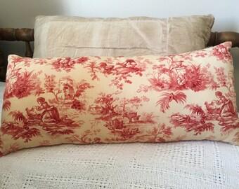 Accent Pillows/Handmade/Toile Pillow /Spring Pillows/ Farmhouse Pillow
