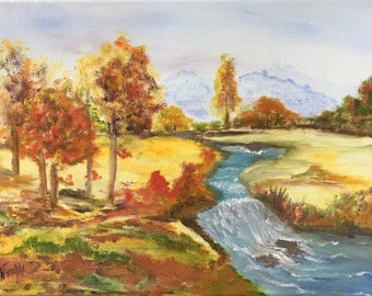 Small landscape in oil