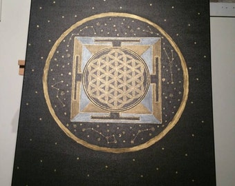 Flower of Life Yantra & constellations / Yantra flower of life and constellations