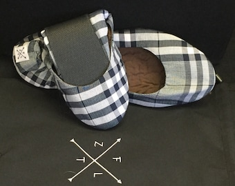 Unique-pattern Foldable Ballet Flats - Grey Tartan