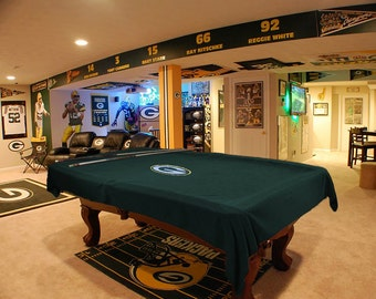 Custom Cloth Pool Table Cover with Military or NFL Embroidered Emblem 8.5 ft