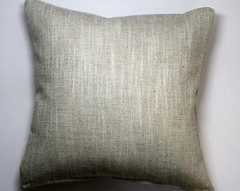 Plain linen weave cushion in natural (cushion pad included)