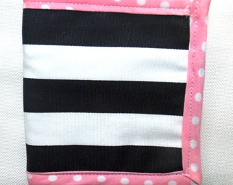 Black and White Fabric Wallet