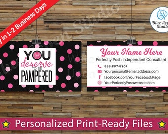 Perfectly Posh Business Cards Printable Digital Printed Personalized Custom Customized Consultant Cards PER-BC104