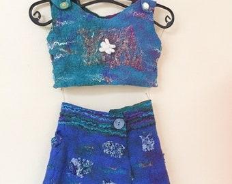Skirt and vest for toddler