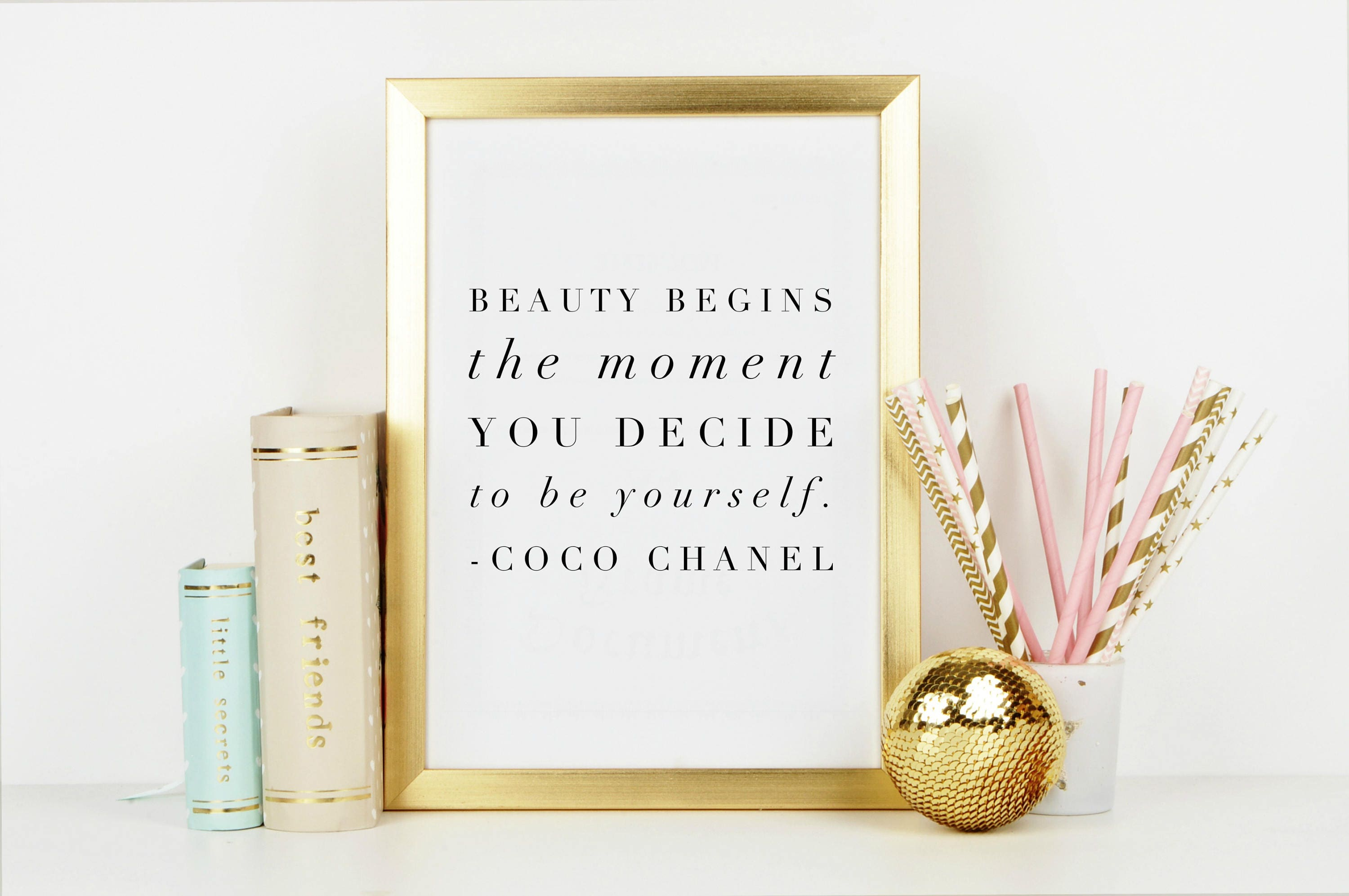 Beauty begins coco chanel quote minimalist high fashion wall gallery photo gallery photo gallery photo amipublicfo Gallery