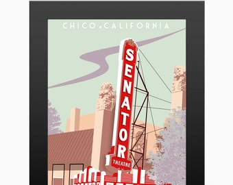 Chico CA - Senator Travel Poster