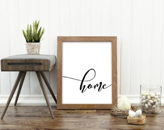 Home quote, for the home, typography print, wall decor,quote for the home , 8X10, 11X14 digital print, House warming gift, Home art Print
