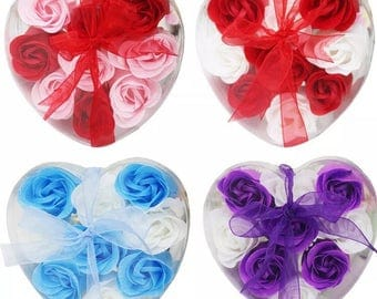 Scented 9 piece soap roses