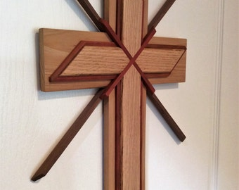 Cross, Wooden Wall Hanging, A Spiritual Symbol Of Faith, Truly One Of A Kind