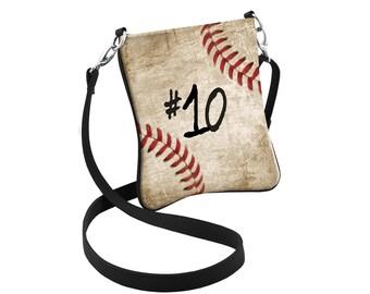 Personalized Baseball Crossbody Bag, Baseball Hipster, Baseball Purse, Sports Bag, Baseball Mom, Baseball Swag, Sports Purse