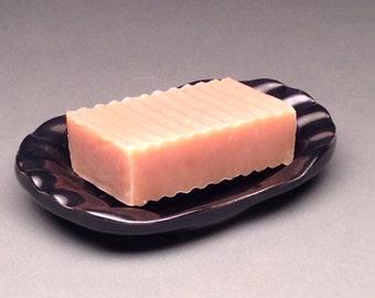 Black, Soap Dish, Ceramic Soap Dish, Pottery Soap Dish, Soap Keeper, Soap Tray, Bathroom Soap Dish