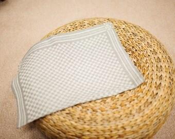 Jacquard linen kitchen tea towel / square
