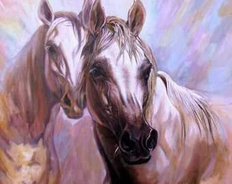 Horse Portrait, Horse Oil Painting, Oil painting on canvas, Horse Art, Art realism, Horses, Gift, Animal
