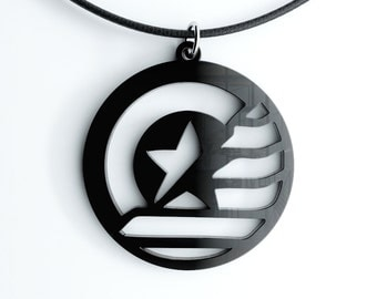 STUCKY Captain America Winter Soldier inspired Pendant, Key Chain or Earrings