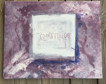 Abstract Gratitude Painting