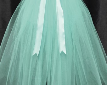 2 in 1 Tulle Skirt(12 Layers), Mother/Daughter Look Alike, with satin waistband, Made to Fit Your Size!