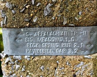 Appalachian Trail; AT; Hike; Thru-hike; Big Meadows; Shenandoah National Park; Hawksbill Mountain; Trail marker; Nature; Virginia