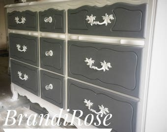 SOLD!!!!!!! Hand-Painted French Provincial Dresser