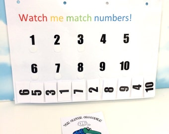 Learn numbers to 10, Matching numbers, Pre-school, Early learning, EYFS, Nursery, Children's development, Learning & school, home education