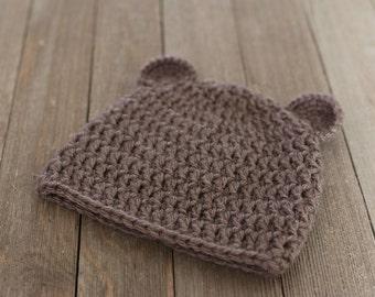 Newborn Bear Hat, Newborn Photography Prop, Baby Bear Beanie, Baby Photo Prop, Baby Bear Hat, Baby Girl Gift, Baby Boy Gift, Baby Gift Set,