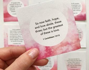 1 Corinthians 13 Memory Cards