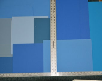 Blue matboards uncut 10 to a pack.  Various colors and sizes all blue hues