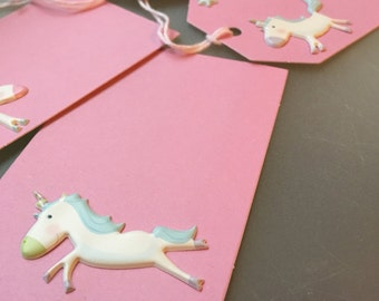 Unicorn goodie bag tags, favor tags, gift tags, name cards, placecards, place cards, seat cards, baby shower, first birthday- 10/order