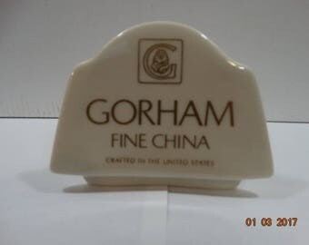 Gorham China Store or Collection Shelf Advertising Sign