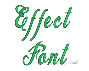 Effect Embroidery Font Designs 5 size Instant Download