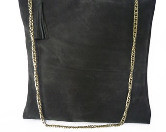 Tote bag Brown brushed leather