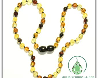 Mixed Baltic Amber 33cm Necklace