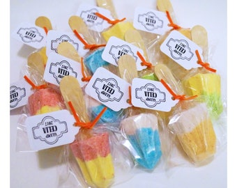 10 Popsicle Bath bombs Personalized Baby shower gifts Baby shower favors party favors wedding favors
