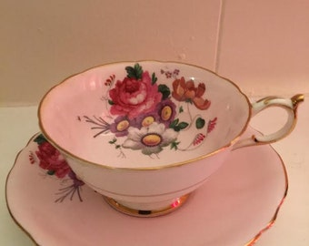Vintage Paragon Pink Tea Cup and Saucer